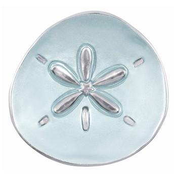 Mariposa Aqua Sand Dollar Canape Plate