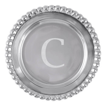 Mariposa C Beaded Wine Plate