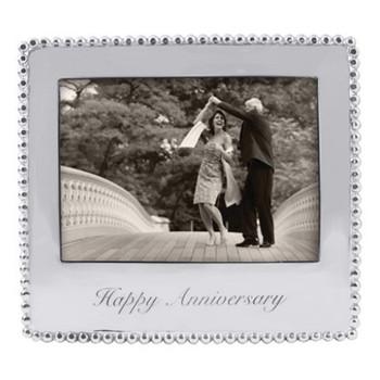 Mariposa 5 x 7 Happy Anniversary Beaded Frame