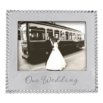 Mariposa 5 x 7 Our Wedding Beaded Frame