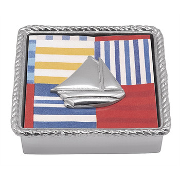 Mariposa Sailboat Rope Napkin Box