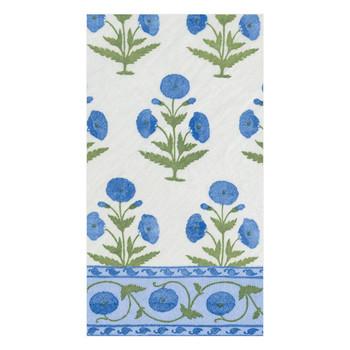 Caspari Indian Poppy Guest Towel - 15 Per Package