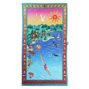Catstudio Lake Life Beach & Travel Towel