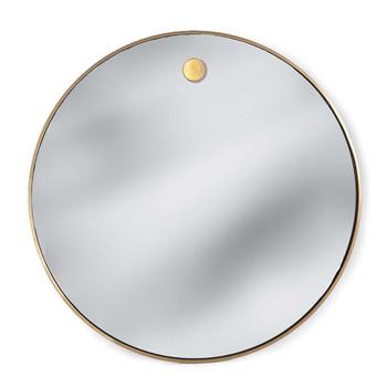 Regina Andrew Natural Brass Hanging Circular Mirror
