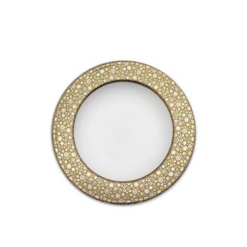Caskata Ellington Shimmer Gold and Platinum Rimmed Soup