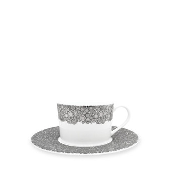 Caskata Ellington Shine Platinum Can Cup & Saucer