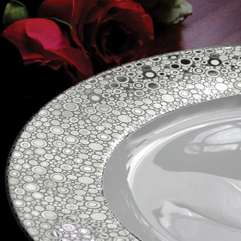 Caskata Ellington Shine Platinum Rimmed Soup