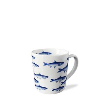 Caskata School of Fish Blue 14 oz Wide Mug