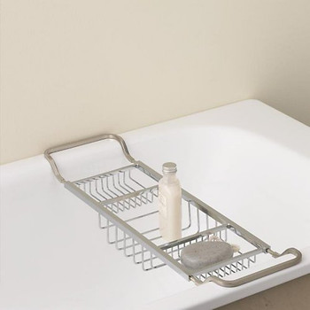 Valsan Essentials Contemporary Adjustable Bath Tub Rack