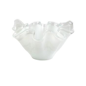 Vietri Onda WhiteGlass Bowl