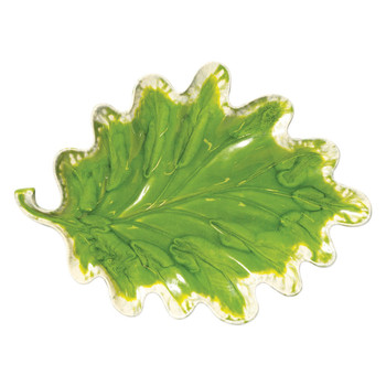 Vietri Reactive Leaves Plate