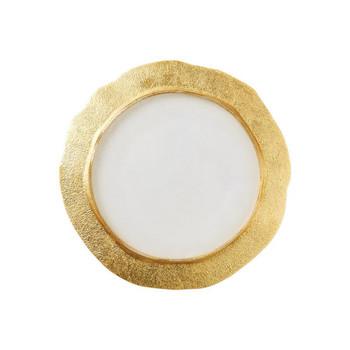 Vietri Rufolo Glass Gold Organic Salad Plate