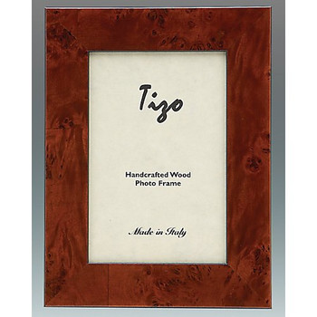 "Tizo Burl Wide Wood Double Frames, 4""x6"""