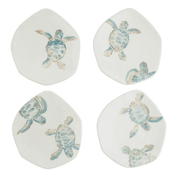 Vietri Tartaruga Assorted Salad Plates - Set of 4