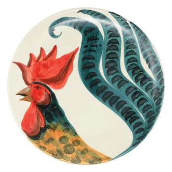 Vietri Wildlife Rooster Round Platter