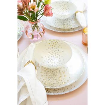 Viva by Vietri Confetti Glass Dinner Plate