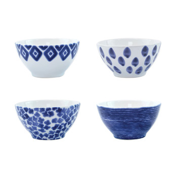 Viva by Vietri Santorini Assorted Cereal Bowls - Set of 4