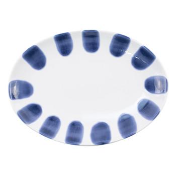 Viva by Vietri Santorini Dot Small Oval Platter