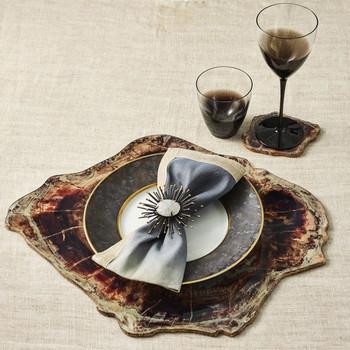 Kim Seybert Fossil Coasters - Set of 4