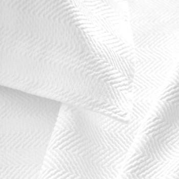 PIne Cone Hill White Herringbone Matelasse Coverlet