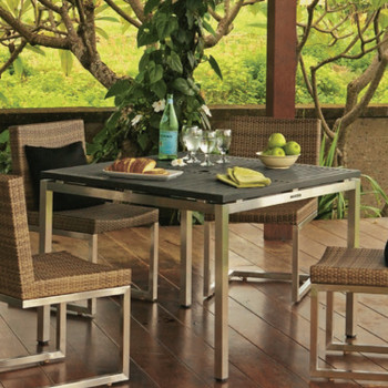 Palms Slatted Square Table