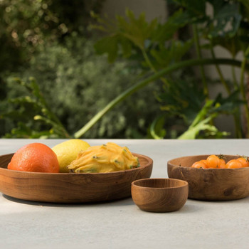 Blue Pheasant Anderson Natural Round Serving Bowl - Pack of 2