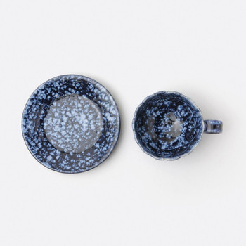 Blue Pheasant Isla Spotted White/Navy Cup And Saucer - Pack of 4