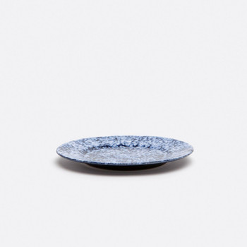 Blue Pheasant Isla Spotted White/Navy Salad/Dessert Plate - Pack of 4