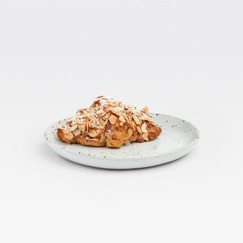 Blue Pheasant Marcus White Salt Glaze Bread/Cupcake Plate - Pack of 4