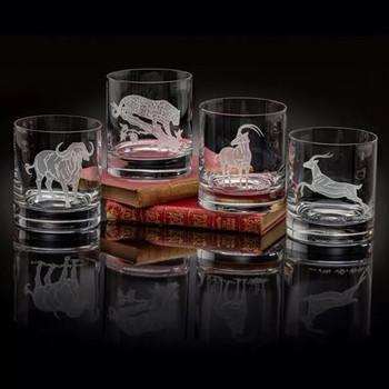 Julie Wear Designs Safari Safari III Old Fashion Assorted Glass
