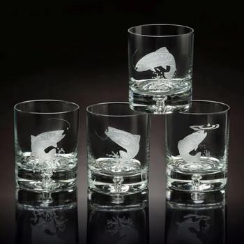 Julie Wear Designs Fly Fishing Old Fashion Glass