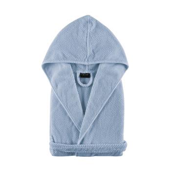Graccioza Bath Linens Bee Waffle B&C Hooded Robe