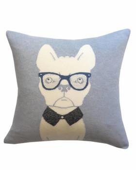 "Rani Arabella Cashmere Blend Dog Pillow - 21"" - Light Blue/Gray"