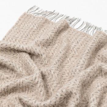 Mazotto Lab Moda Herringbone And Boucle Blend Alpaca Throw