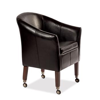 Akston Leather Chair (Walnut BLK)