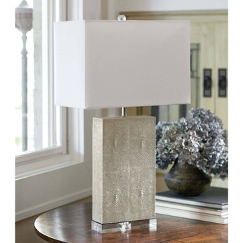 Regina Andrew Marcel Ivory Shagreen Table Lamp