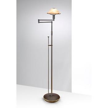 Holtkoetter Aging Eye Swing Arm Floor Lamp in Hand Brushed Old Bronze #9434