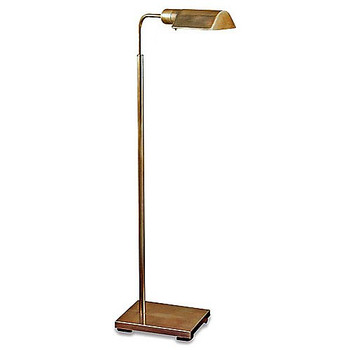 Visual Comfort Studio Adjustable Antique Brass Floor Lamp 91025 HAB