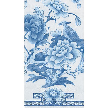 Caspari Blue & White Guest Towel