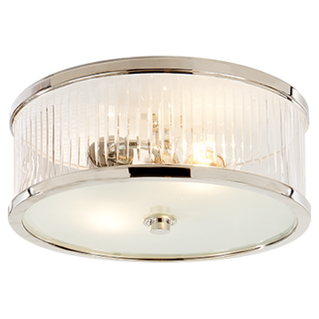 Alexa Hampton Randolph 2 Light 14 inch Polished Nickel Flush Mount Ceiling Light