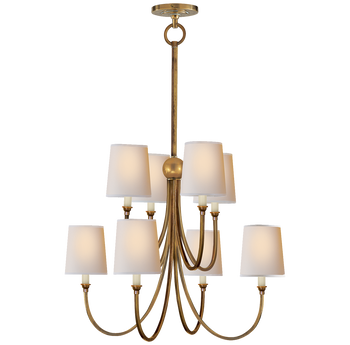 Thomas O'Brien Reed Chandelier, Antique Brass