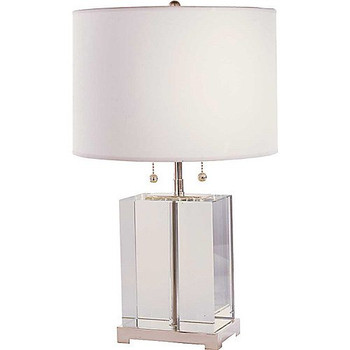 Thomas O'Brien Small Crystal Block Table Lamp