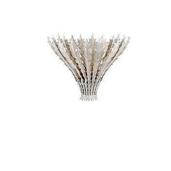 Aerin Hampton Leaf Sconce in Burnished Silver