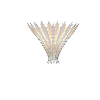 Aerin Hampton Leaf Sconce in Plaster White