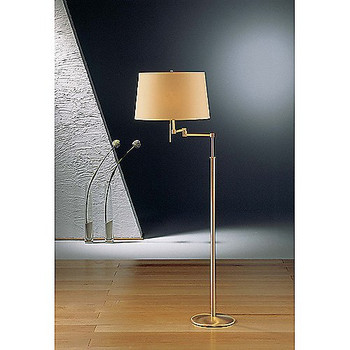 Holtkoetter Brushed Brass Swing Arm Floor Lamp #2541