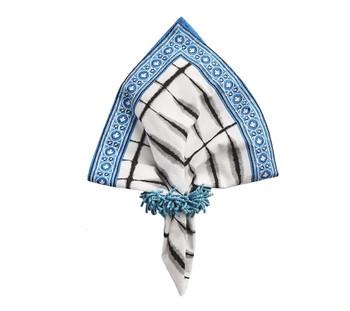 Kim Seybert Carnival Turquoise Napkin Ring, Set of 4