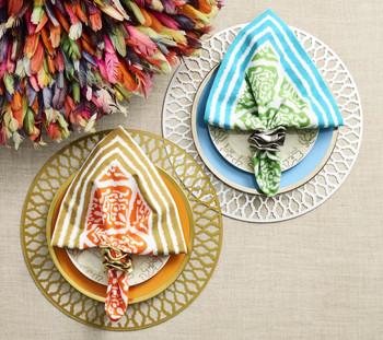 Kim Seybert Flux Silver Napkin Ring, Set of 4