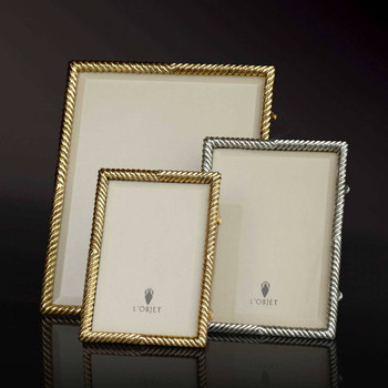 L'Objet Gold Plated Deco Twist Frame