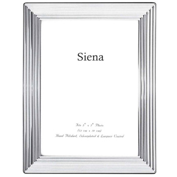 Siena Ridged Silverplated Frame