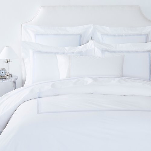 Gracious Home 6-Line Embroidered Flat Sheet